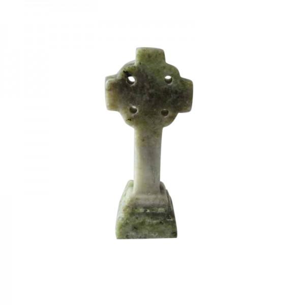 Connemara Marble Celtic Cross - 2.5 ins x 1.25 ins