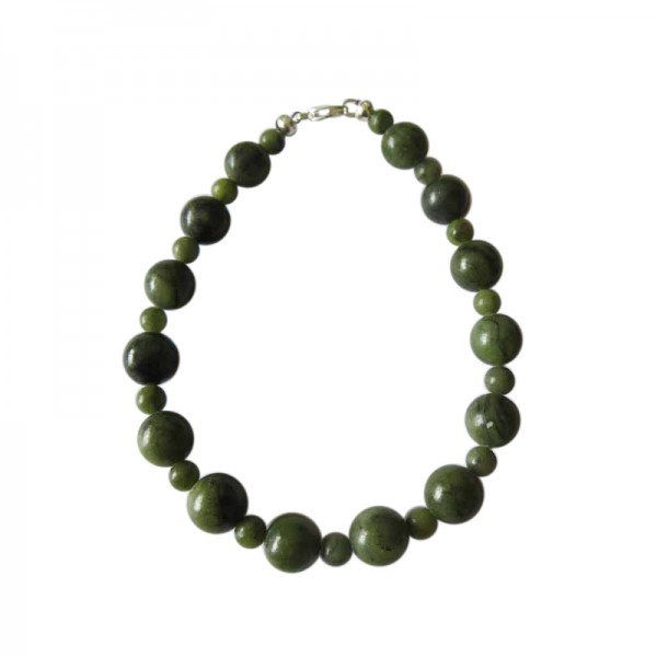 Irish Connemara Marble Bracelet - Round Beads