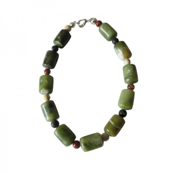 Irish Connemara Marble Bracelet - Barrel Beads - 4 Provinces Marble Irish Birthday Gifts