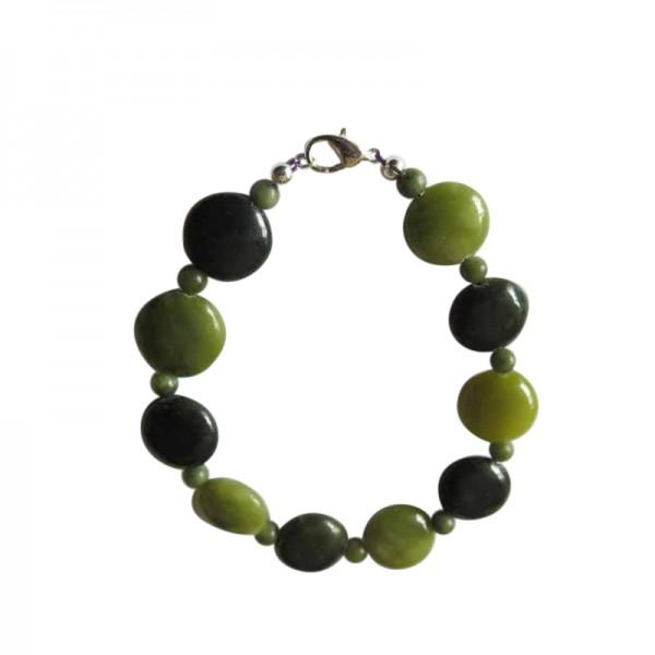 Irish Connemara Marble Bracelet - Flat Round Beads Irish Birthday Gifts