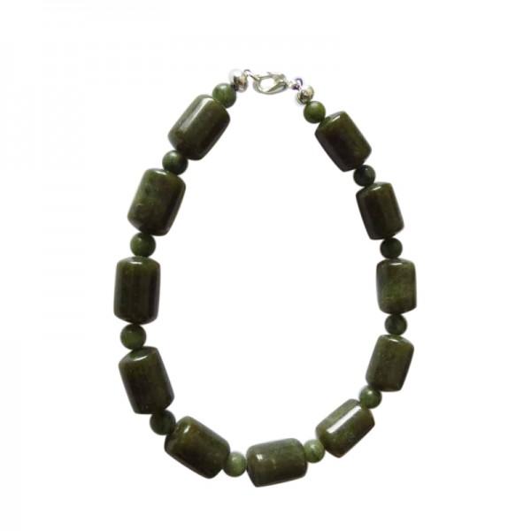 Irish Connemara Marble Bracelet - Barrel Beads Irish Birthday Gifts