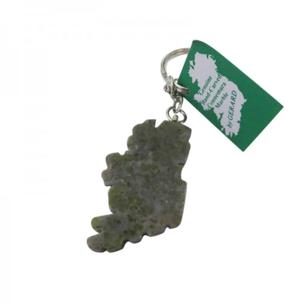 Connemara Marble Keychain - Map of Ireland
