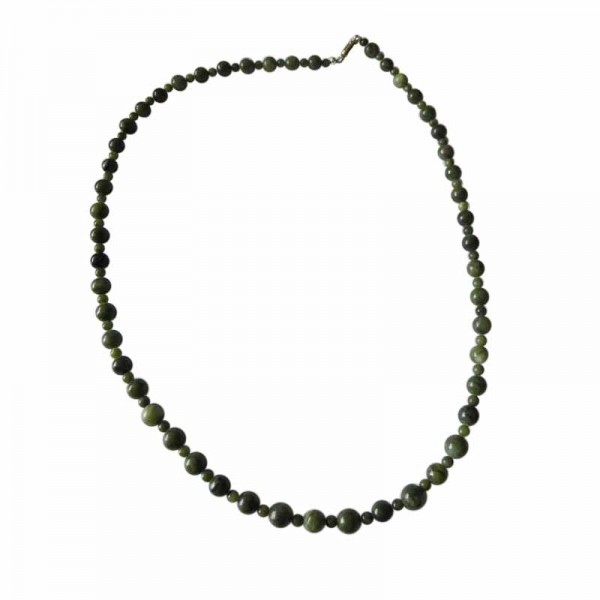 Irish Connemara Marble Necklace - Round Beads