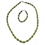 Irish Connemara Marble Necklace - Barrel Beads with 4 Province Spacers Irish Birthday Gifts