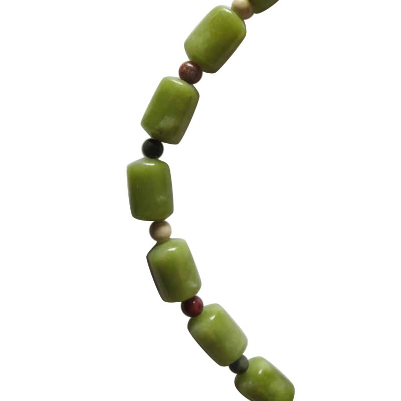 Irish Connemara Marble Bracelet Barrel Beads 4 Provinces Birthday Gifts