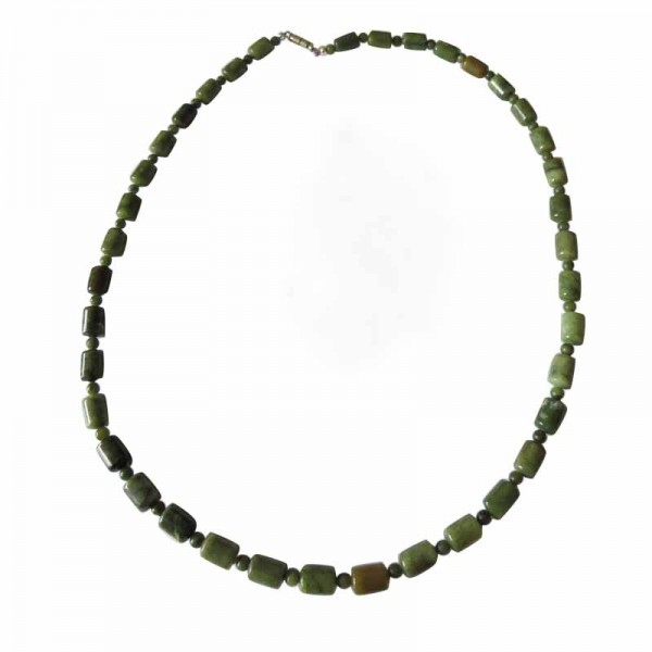 Irish Connemara Marble Necklace - Barrel Beads