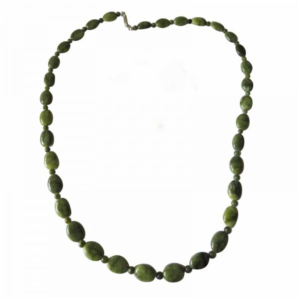 Irish Connemara Marble Necklace - Oval Beads