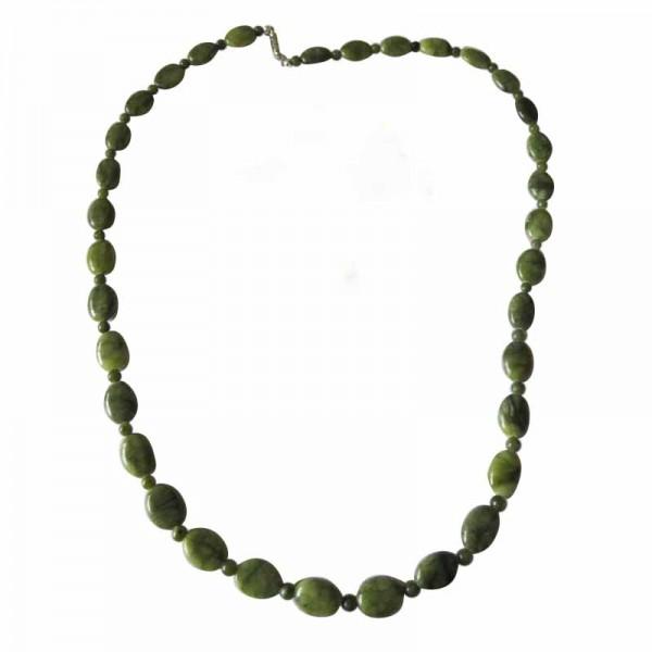 Irish Connemara Marble Necklace - Oval Beads Irish Birthday Gifts