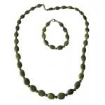 Irish Connemara Marble Bracelet - Oval Beads  Irish Birthday Gifts