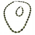 Irish Connemara Marble Bracelet - Oval Beads 4 Province Spacers Irish Birthday Gifts