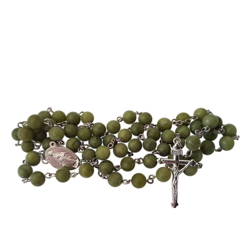 Irish Rosary Beads Connemara Marble