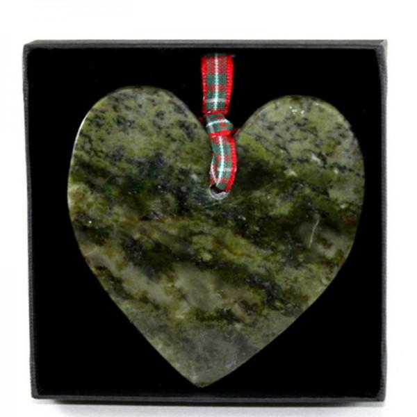 Connemara Marble Christmas Ornament - Heart Shape