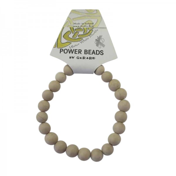 Power Beads - Ulster White Marble