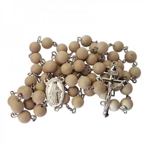 Irish Rosary Beads - Ulster White Marble - 4 Province Marble
