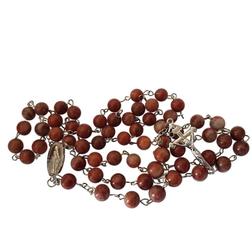 Cork Beads: Irish Rosary Beads