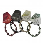 Rosary Stretch Bracelet - Cork Red Marble