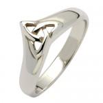 Irish Silver Trinity Knot Ring