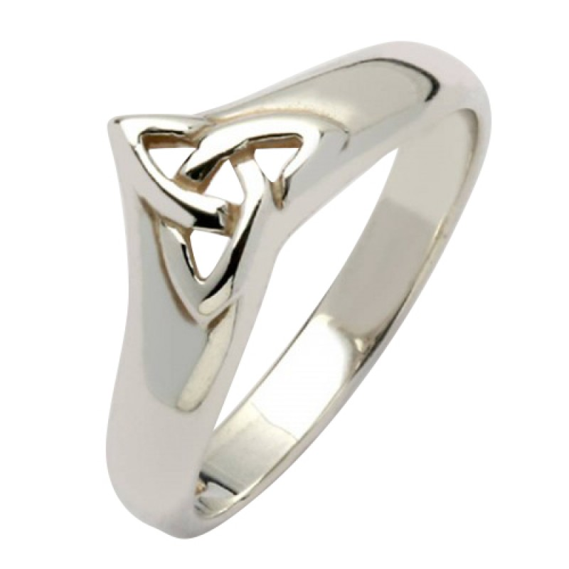 Irish Silver Trinity Knot Ring Celtic Knot Ring Sterling Silver