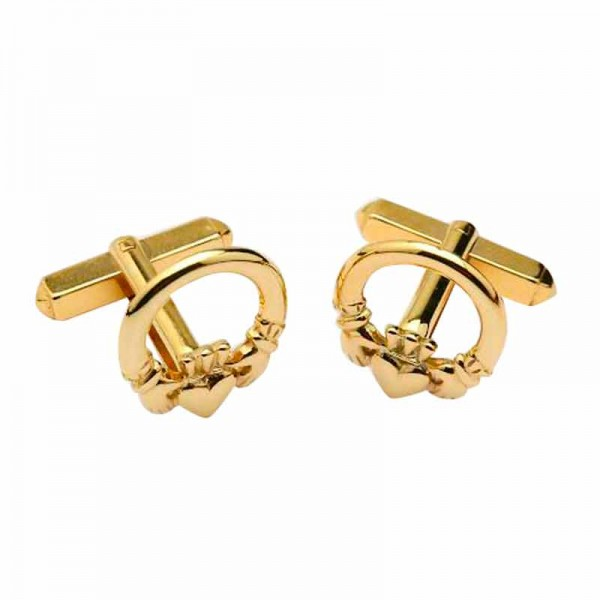 Irish Gold Cufflinks - Claddagh - Irish Made
