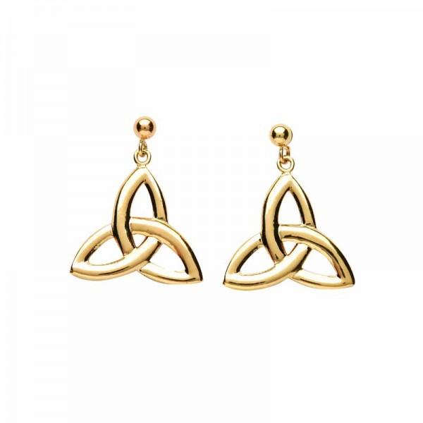 Trinity Knot Earrings - 10 Karat Gold Drops