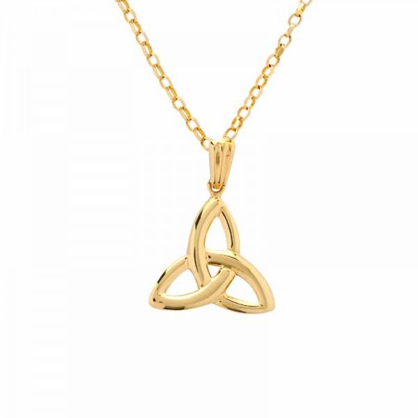 Irish Gold Celtic Trinity Knot Pendant - Medium