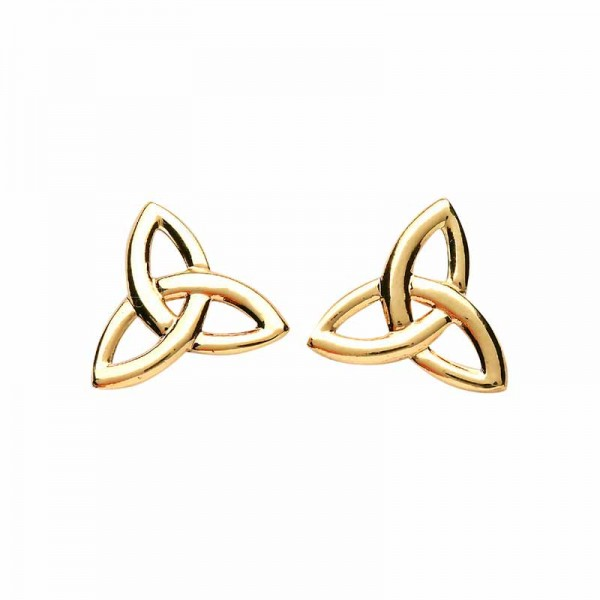 Trinity Knot Earrings - 10 Karat Gold Studs