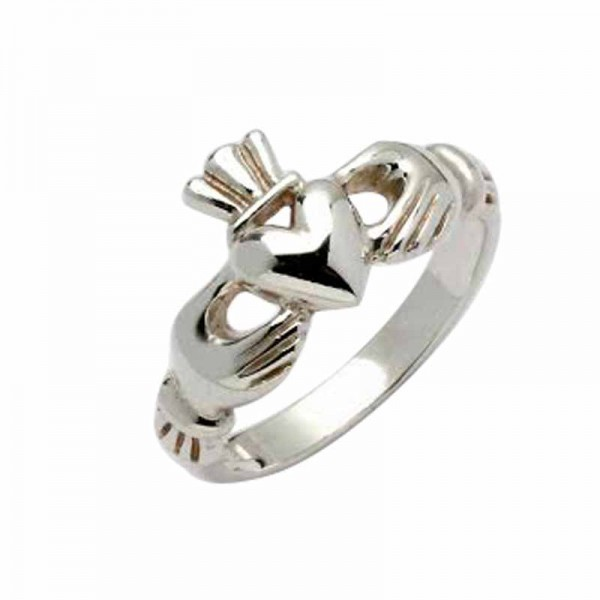 Irish Silver Claddagh Ring - Erne - Sterling SIlver