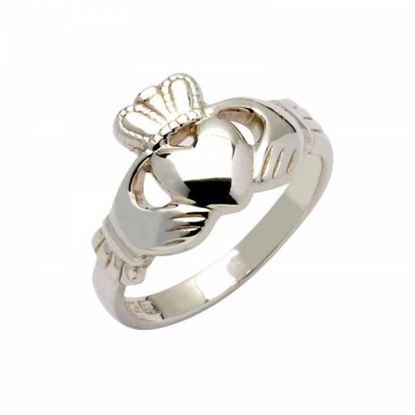 Irish Silver Claddagh Ring - Shannon - Fado Jewelry