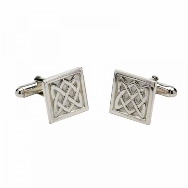 Irish Silver Cufflinks - Celtic Knots - Irish Made