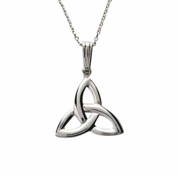 Silver Trinity Knot Pendant - Large Size - Sterling Silver