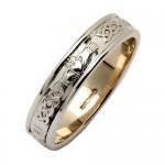 Corrib Claddagh Narrow Band Wedding Ring - Sterling Silver Irish Birthday Gifts