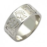 Irish Silver Impressions of Ireland Ring - Wide Band