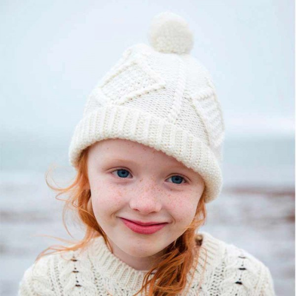 Irish Aran Child's Bobble Hat - One Size