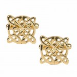 Celtic Knot Cufflinks - Gold Coloured