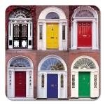 Irish Drinks Coasters - Set of Four - Doors of Dublin