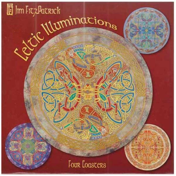 Irish Drinks Coasters - Set of Four - Jim Fitzpatrick