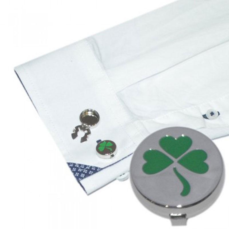 new cuff button covers shamrock design alternative to cufflinks occasions