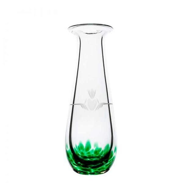 Irish Handmade Glass - Bud Vase - Claddagh Green