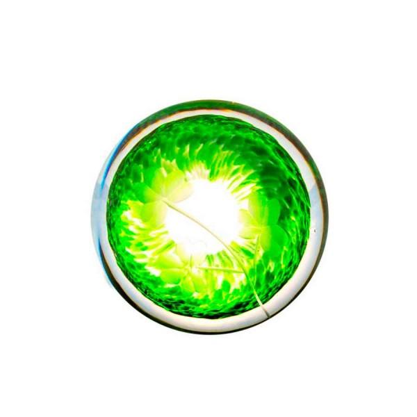 Irish Handmade Glass - Hand Cooler Paperweight - Shamrock