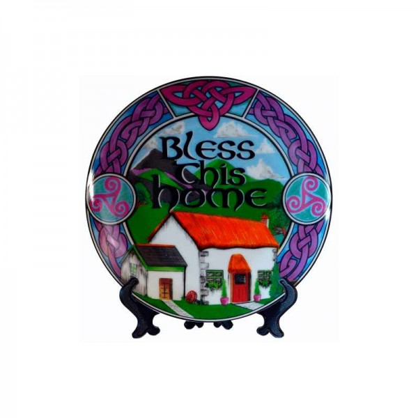 Irish Decorative Plate - Bless This Home - 4 inches