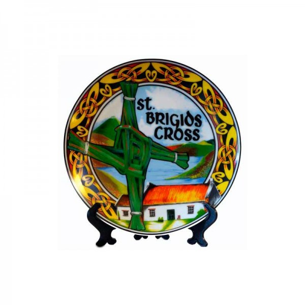 Irish Decorative Plate - St Brigid - 4 inches