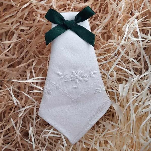 Irish Linen Womans Handkerchief - Flower Design