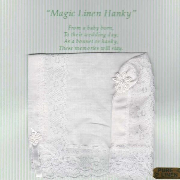 Irish Linen Wedding Handkerchief - Magic Linen Hanky