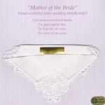 Irish Linen Wedding Handkerchief - Mother of the Bride