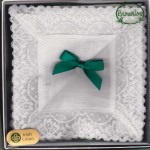Irish Linen Womans Handkerchief - Lace Edge - 2 Pack