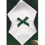 Irish Linen Womans Handkerchief - Plain Edge - 2 Pack