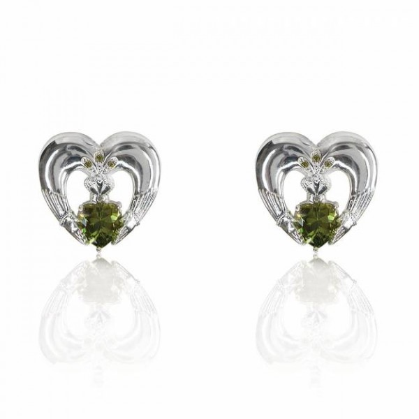 Claddagh Earrings - Maureen O Hara - Silver Plated Occasions