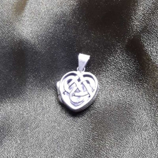 Celtic Heart Pendant - Sterling Silver