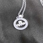 Silver Claddagh Pendant with Sparkle - Small