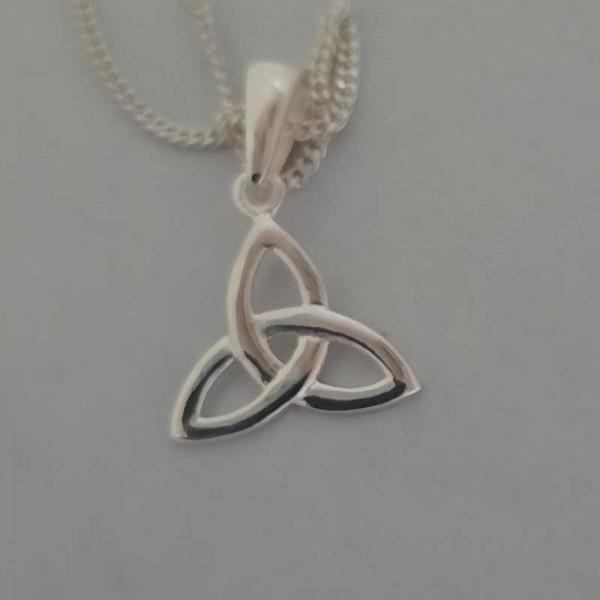 Silver Trinity Knot Pendant - Small